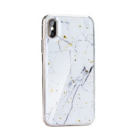 Гръб Forcell Marble- Samsung Galaxy S20 бял