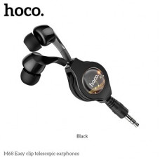 HOCO earphones Easy clip telescopic M68 - Motorola Moto G8 Power Lite черен