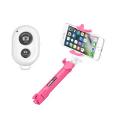 Combo selfie stick with tripod and bluetooth -  Samsung Galaxy S20 розов
