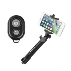Combo selfie stick with tripod and bluetooth - Huawei Y5 (2019) черен