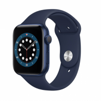 Apple Watch Series 6 GPS 44mm Blue Aluminum Case with Sport Band Blue