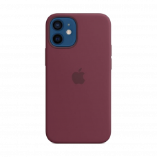 Apple iPhone 12 Mini Silicone Case with MagSafe Plum