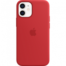 Apple iPhone 12 Mini Silicone Case with MagSafe Red