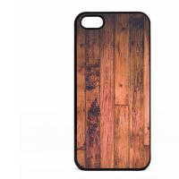 PVC гръб - 2d за Apple iPhone 5 - wood