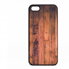 PVC гръб - 2d за Apple iPhone 5 - wood