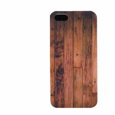 PVC гръб - 3d за Apple iPhone 5 - wood