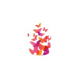 Силиконов гръб за Nokia 3310 - Butterflies