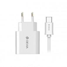 Зарядно Micro USB 220V 2.1 A White
