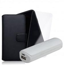 Промо Пакет Fancy book case+Glass+Power bank