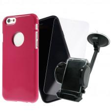 Промо Пакет Jelly case mercury+Glass+Car Holder