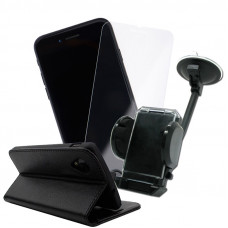 Промо Пакет Smart book case+Glass+Car Holder
