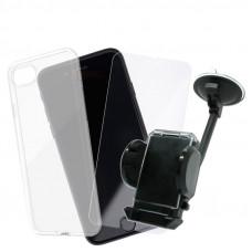 Промо Пакет Ultra slim case+Glass+Car Holder