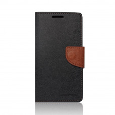 Калъф Fancy Book - Apple iPhone 4S черен кафяв