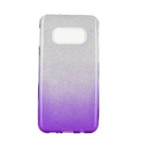 Гръб Forcell SHINING - Samsung Galaxy S10 Lite прозрачен-виолетов