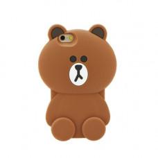 3D Гръб кафява мечка - Apple iPhone 6