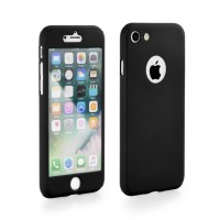 "Калъф 360"" Full Body Case + Tempered Glass - Apple iPhone 7 Plus черен"