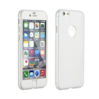 "Калъф 360"" Full Body Case + Tempered Glass - Apple iPhone 8 бял"