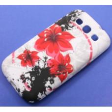 Силиконови калъфи за Samsung Galaxy s3 Art Червени Цветя