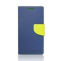 Калъфи тефтер-текстил Mercury за Samsung Galaxy S3 mini I8190 тъмно син-зелен