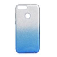 Гръб Forcell SHINING - Huawei P Smart прозрачен - син