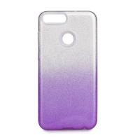 Гръб Forcell SHINING - Huawei P Smart прозрачен - виолетов
