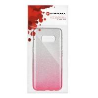Гръб Forcell SHINING - Samsung Galaxy S9 прозрачен-розов