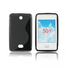 Силиконов калъф-гръб за Nokia 501 черен