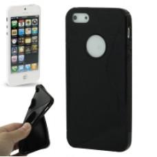 Силиконов калъф-гръб за Apple iPhone 5 черен