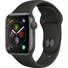 Apple Watch Series 4 GPS+Cellular 40mm Space Grey Aluminium Case with Black Sport Band