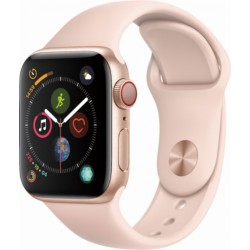 Apple Watch Series 4 GPS+Cellular 40mm Gold Aluminium Case with Pink Sand Sport Band