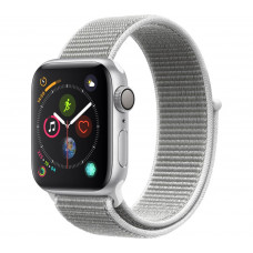 Apple Watch Series 4 GPS+Cellular 40mm Silver Aluminium Case with Seashell Sport Loop
