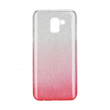 Гръб Forcell SHINING - Samsung Galaxy J6 2018 прозрачен-розов