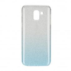 Гръб Forcell SHINING - Samsung Galaxy J6 2018 прозрачен-син