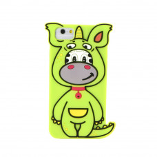 3D Гръб зелен динозавър - Apple iPhone 7