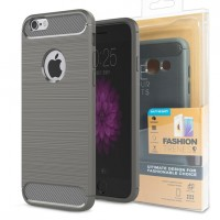 Гръб FORCELL CARBON за Apple iPhone X сив