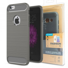 Гръб FORCELL CARBON за Apple iPhone 8 сив