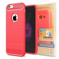 Гръб FORCELL CARBON за Apple iPhone 8 червен