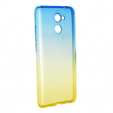 Гръб FORCELL OMBRE за Huawei Y7 син-златен