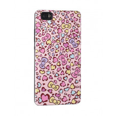Калъф 3D Гръб Hearts за Apple iPhone 6 розов
