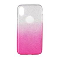 Гръб Forcell SHINING за Apple iPhone X прозрачен-розов