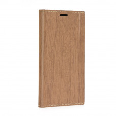 Калъф FORCELL Wood за Huawei Y7 кафяв