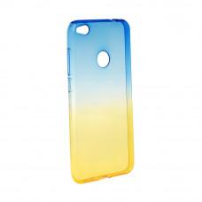 Гръб FORCELL OMBRE за Huawei P9 Lite Mini син-златен