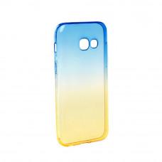Гръб FORCELL OMBRE за Samsung Galaxy A3 (2017) син-златен
