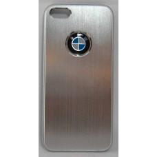 PVC-пластмасов калъф за Apple iPhone 5 сребърен BMW