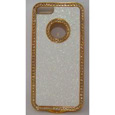 PVC-пластмасов калъф за Apple iPhone 5 блестящ със златно