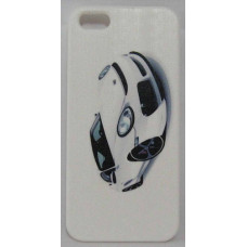 PVC-пластмасов калъф за Apple iPhone 5 бял с кола