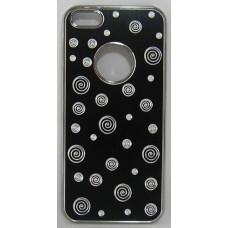 PVC-пластмасов калъф за Apple iPhone 5 метален черен