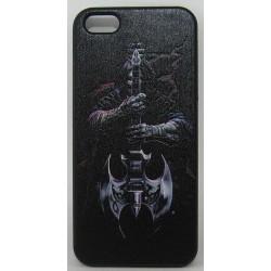 PVC-пластмасов калъф за Apple iPhone 5 черен с китара