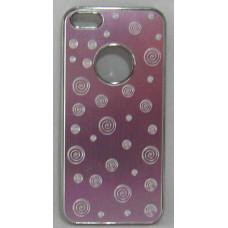 PVC-пластмасов калъф за Apple iPhone 5 метален розов