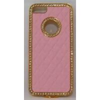 PVC-пластмасов калъф за Apple Iphone 5 розов със златно